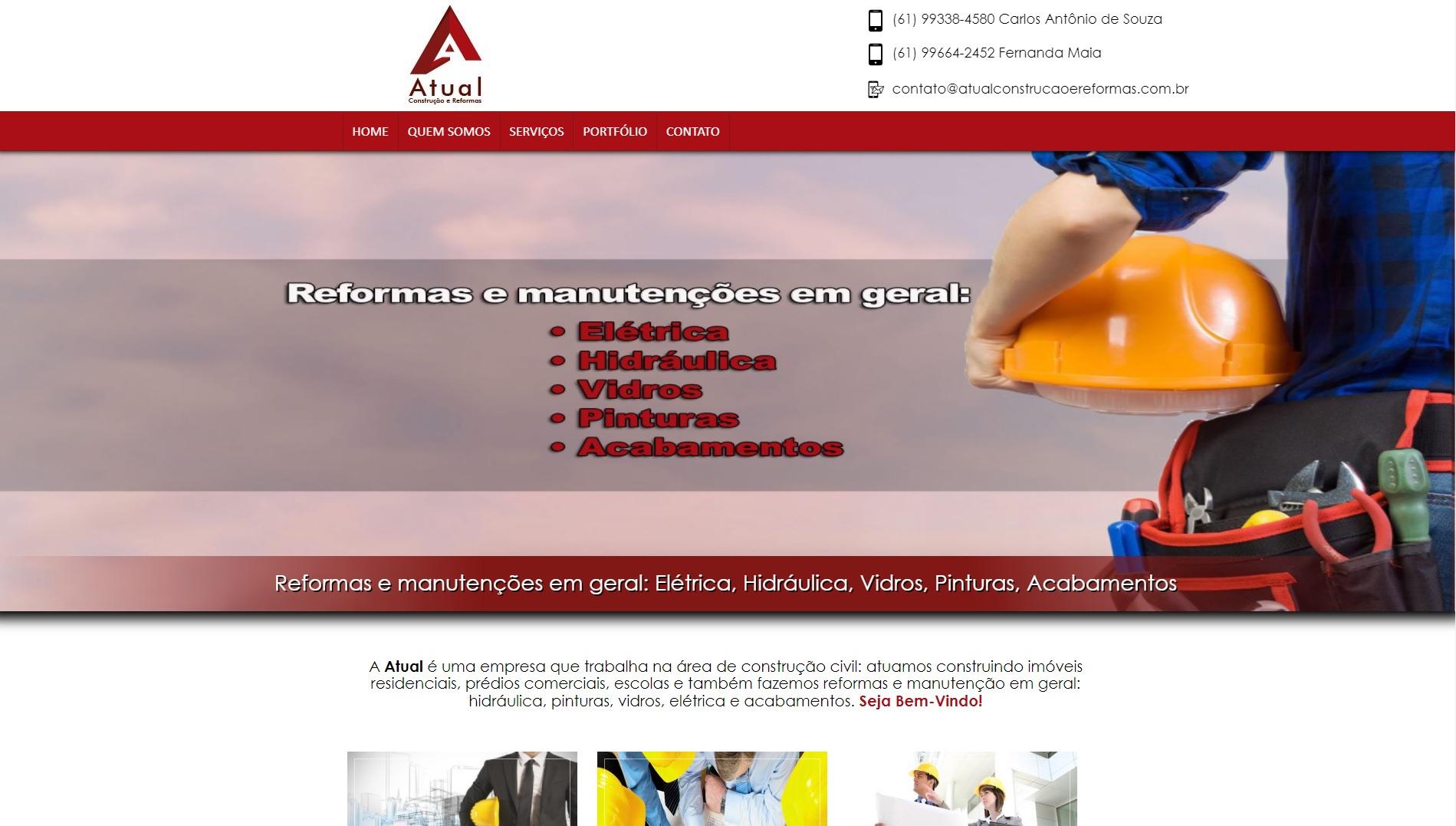 Site Atual Construção e Reformas