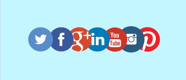 Páginas de redes sociais